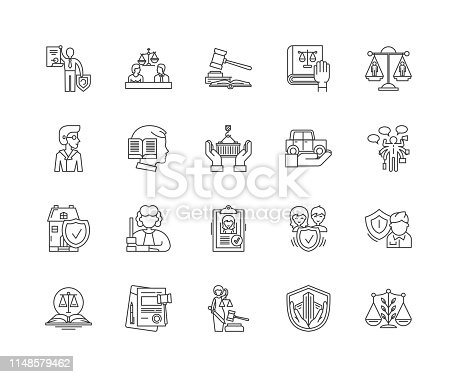 Advocacy line icons, linear signs, vector set, outline concept illustration