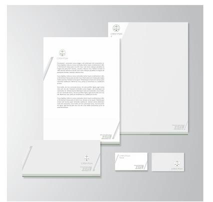 Advocate stationery design