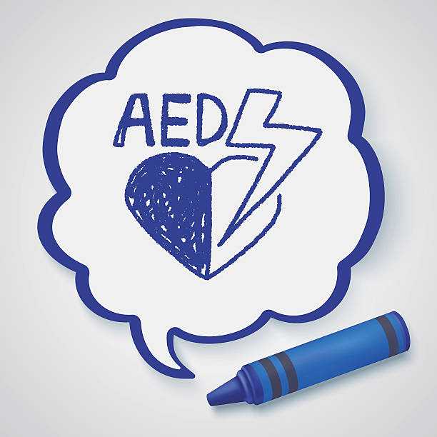 aed doodle vector art illustration