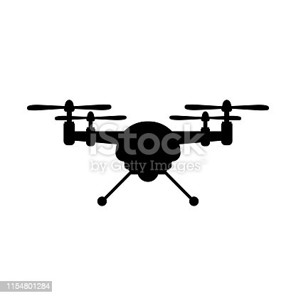 Aerial drone icon  – stock vector