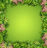 A aerial garden view illustration