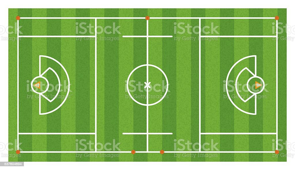 Aerial Lacrosse Field Illustration vector art illustration