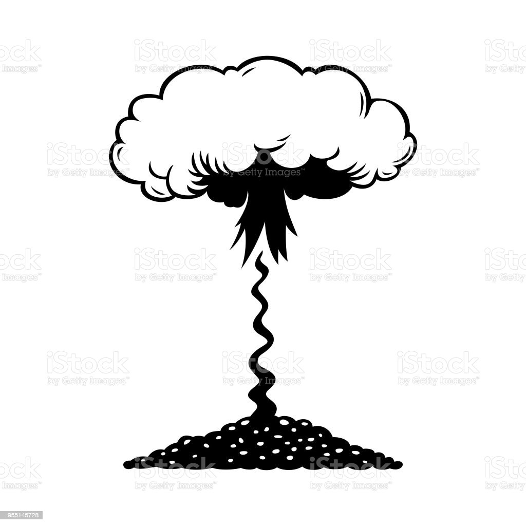 Aerial Nuclear Explosion Stock Vector Art & More Images of Aerial ...