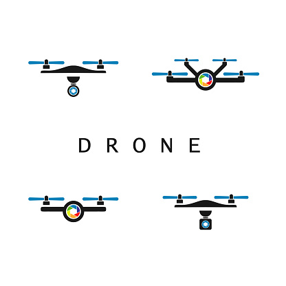 Aerial Photography Logo, Drone Icon