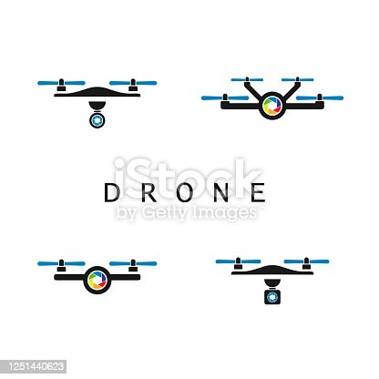 Drone With Lens Symbol For Photography Company Logo