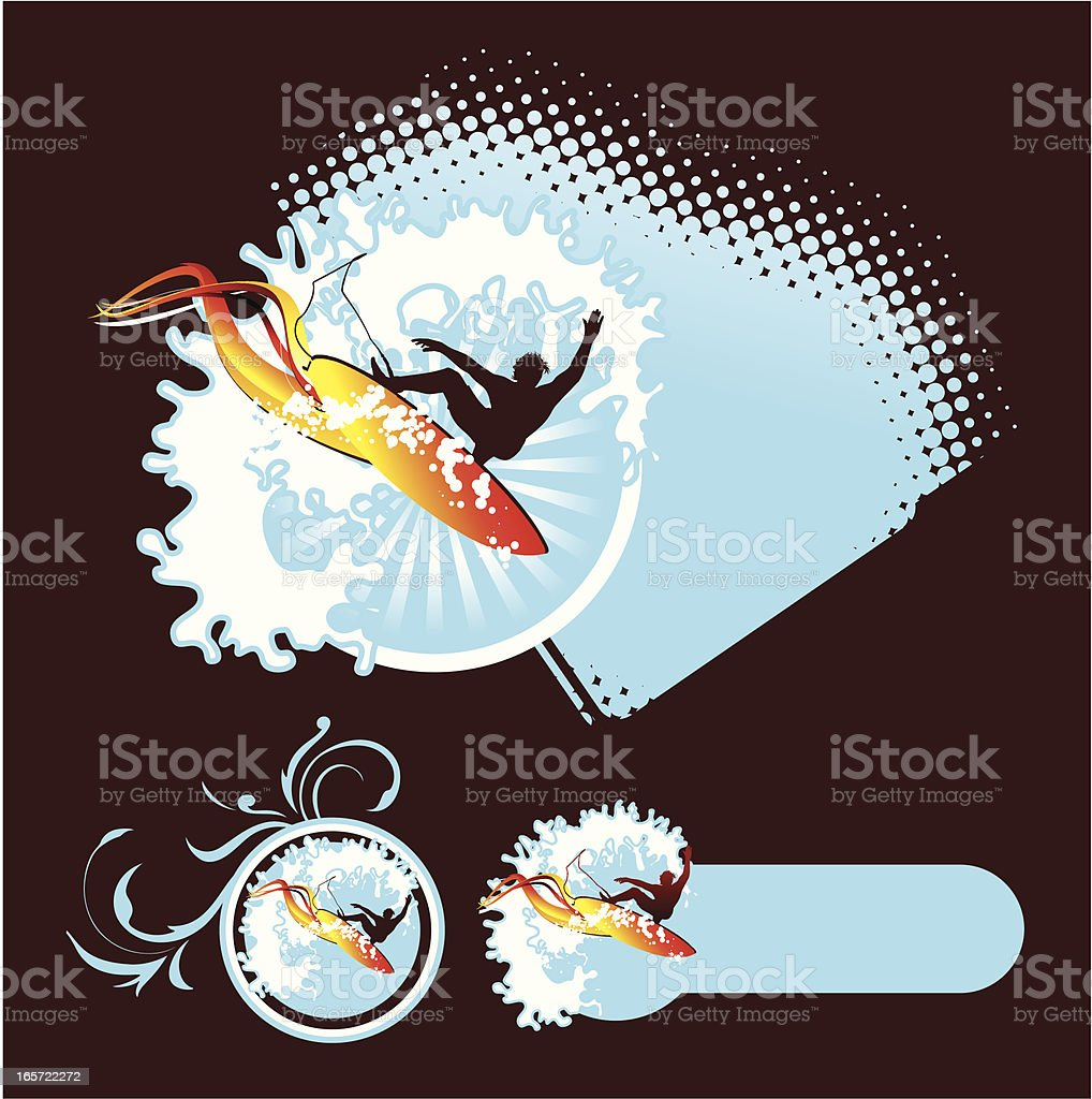 Aerial surf emblems royalty-free aerial surf emblems stock vector art & more images of activity