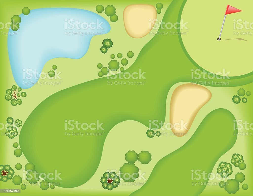 royalty free golf course hole aerial clip art vector images rh istockphoto com golf club clipart black and white golf club clipart vector free