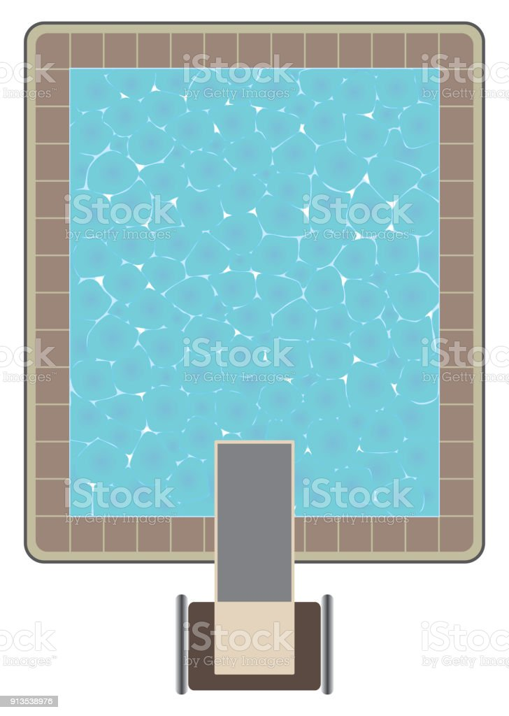 Aerial View Of Swimming Pool Royalty Free Stock Vector Art