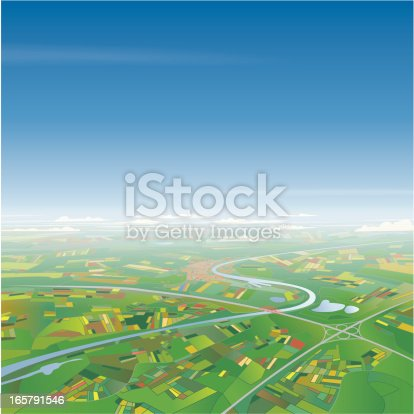 istock Aerial View on Landscape 165791546