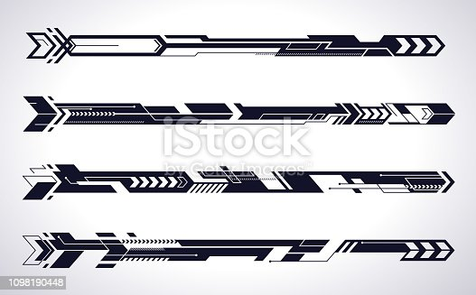 futuristic arrows moving ahead design elements