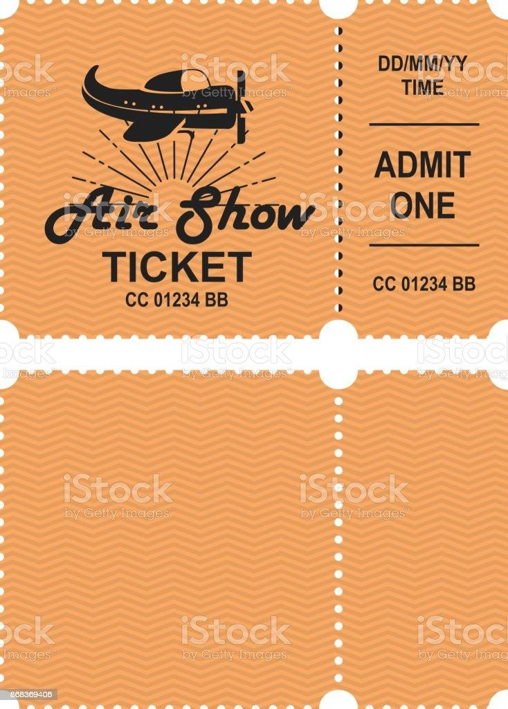 Aero show ticket vector art illustration