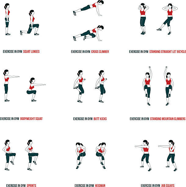 Aerobic and workout icons – Vektorgrafik