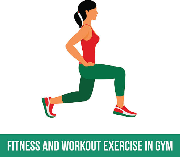 Best Lunge Exercise Illustrations, Royalty-Free Vector ...
