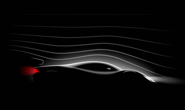Aerodynamics of the Realistic sports car Aerodynamics of the Realistic sports car,vector illustration aerodynamic stock illustrations