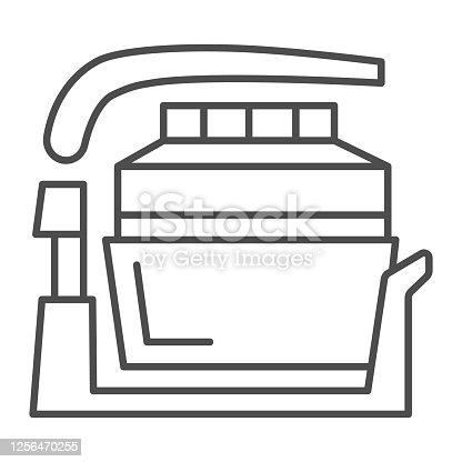 Aerogrill thin line icon, Kitchen appliances concept, Kitchenware sign on white background, Electric home grill icon in outline style for mobile concept and web design. Vector graphics