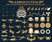aeronautics labels templates set