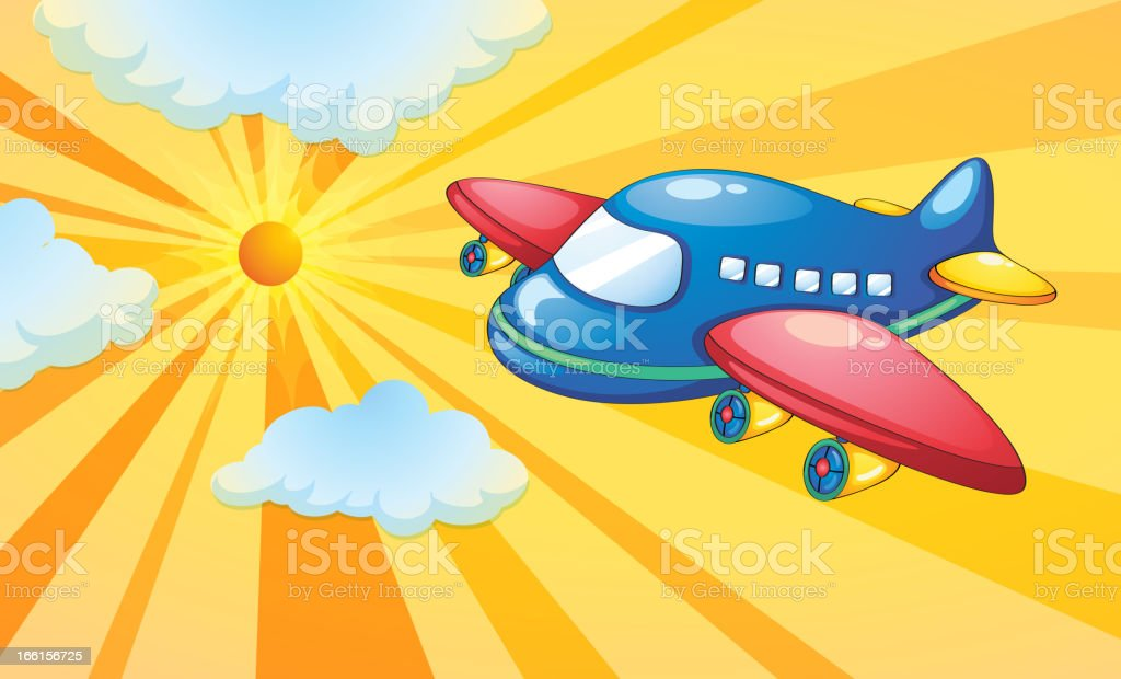 Aeroplane and light rays in the sky royalty-free aeroplane and light rays in the sky stock vector art & more images of air vehicle