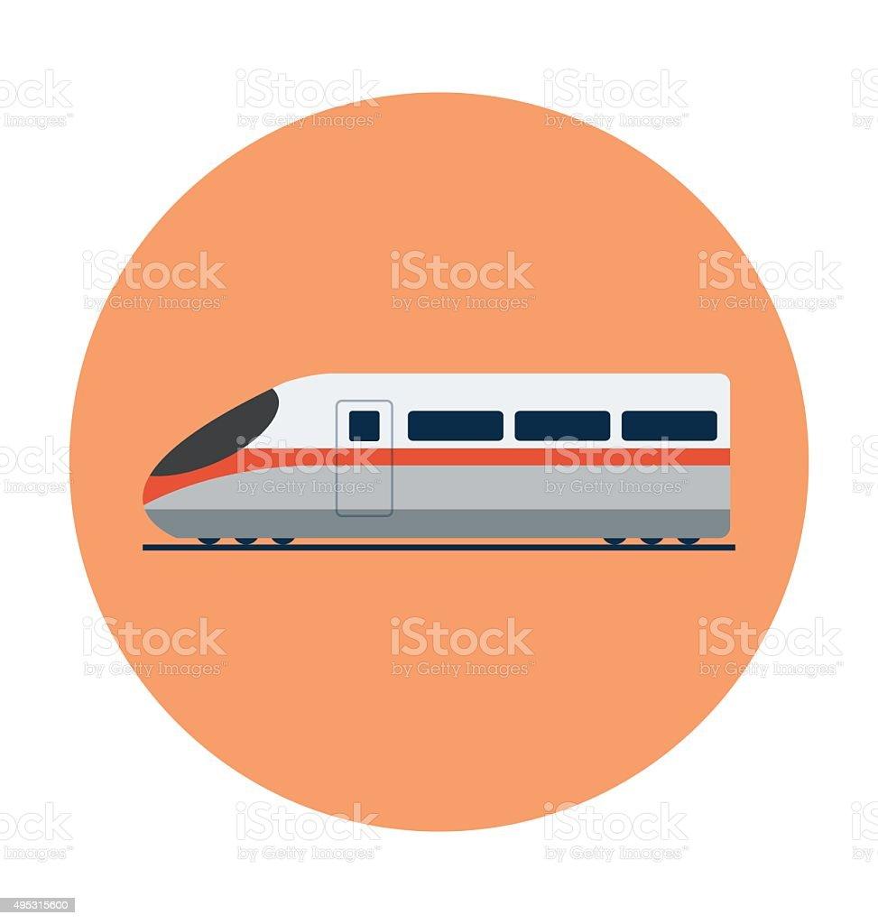 Aerotrain Colored Vector Icon vector art illustration