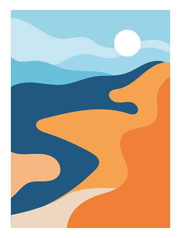 Aesthetic poster with landscape