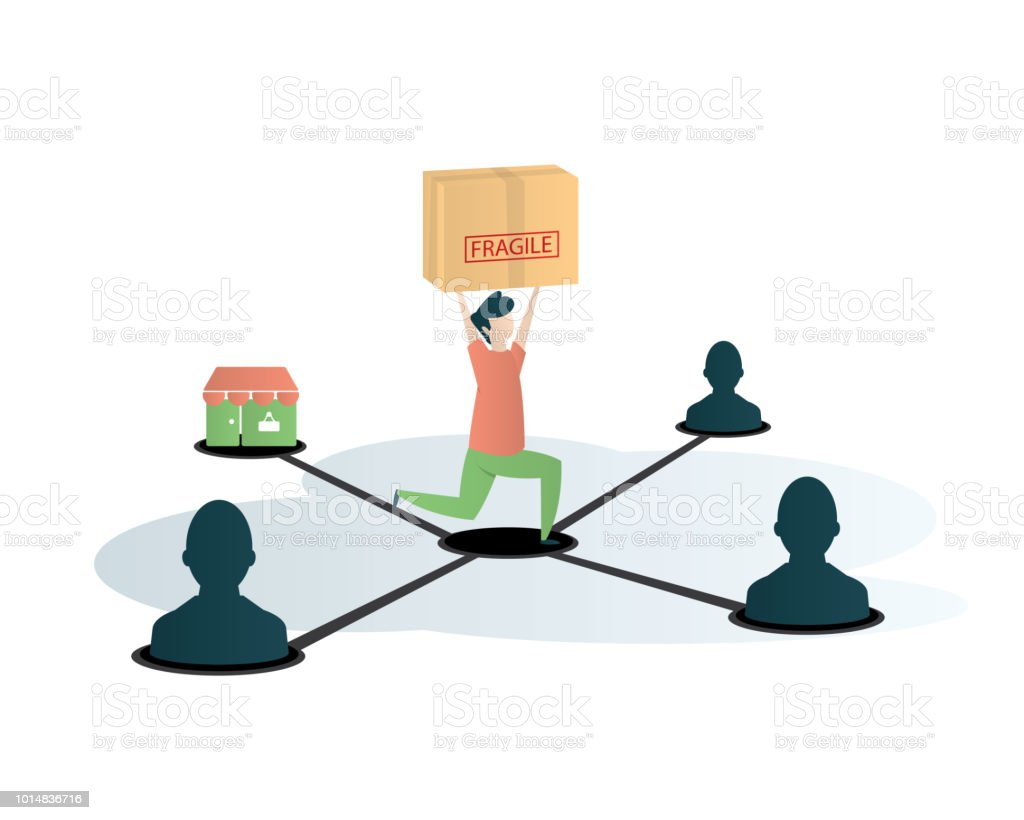 affiliate marketing eye catching illustration vector art illustration