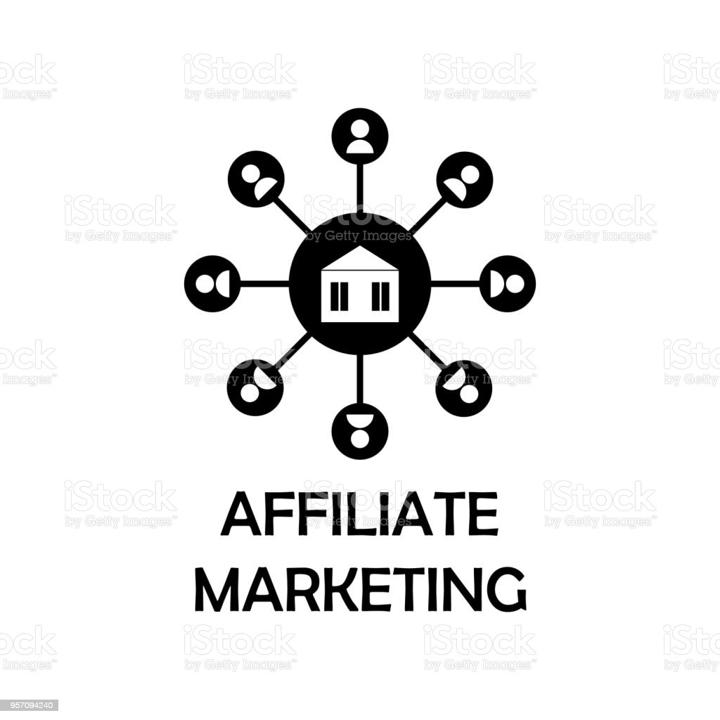 affiliate marketing icon. Element of marketing for mobile concept and web apps. Detailed affiliate marketing icon can be used for web and mobile. Premium iconmarketing vector art illustration