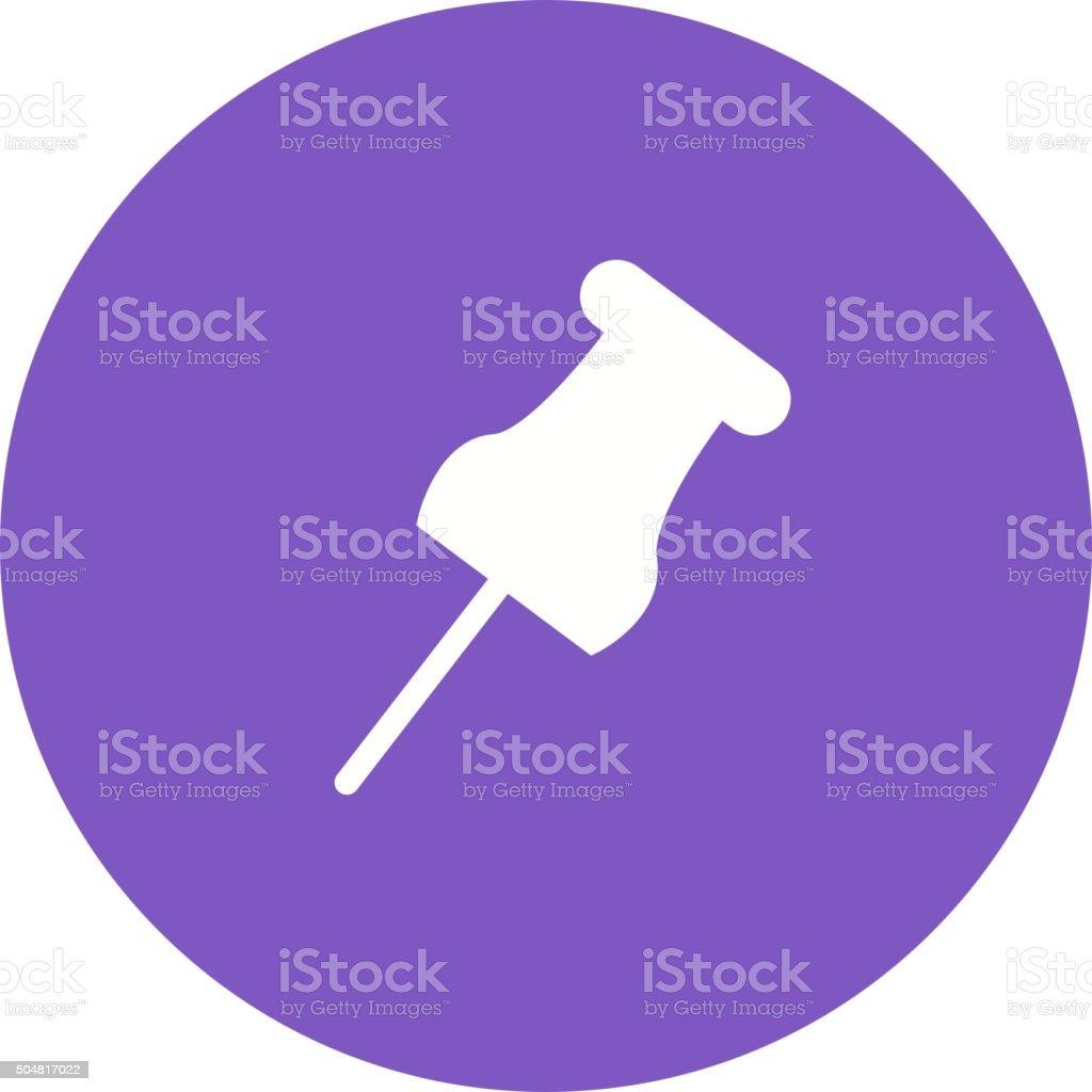 Affixing pin vector art illustration