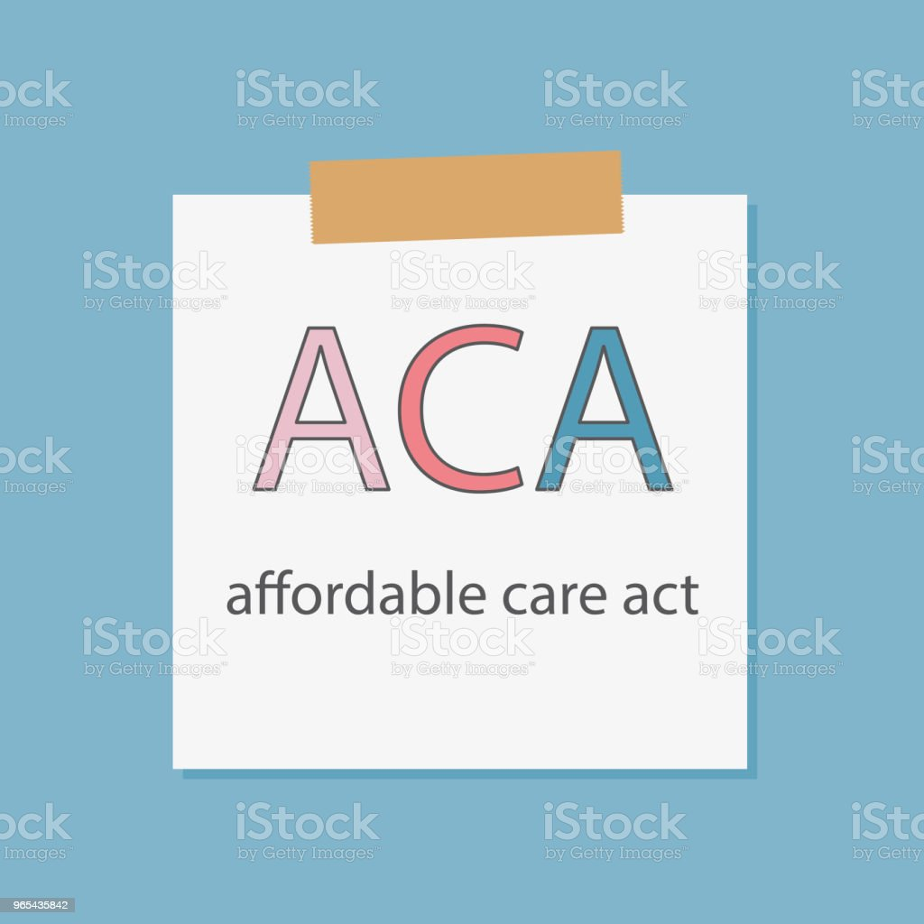 ACA Affordable Care Act written in a notebook paper aca affordable care act written in a notebook paper - stockowe grafiki wektorowe i więcej obrazów baner royalty-free