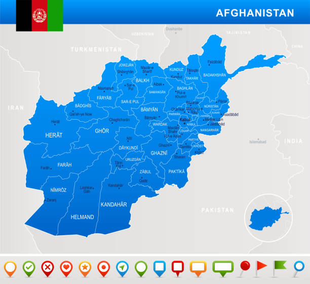 Royalty free kandahar afghanistan clip art vector images afghanistan map flag and navigation icons detailed vector illustration vector art illustration gumiabroncs Gallery