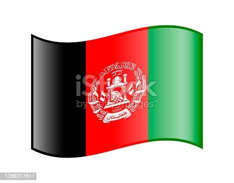 istock Afghanistan Waving Flag. Vector Icon 1286227511