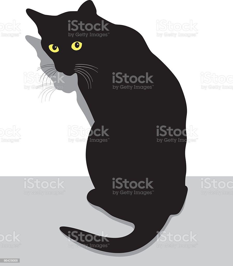 Afraid Cat vector art illustration