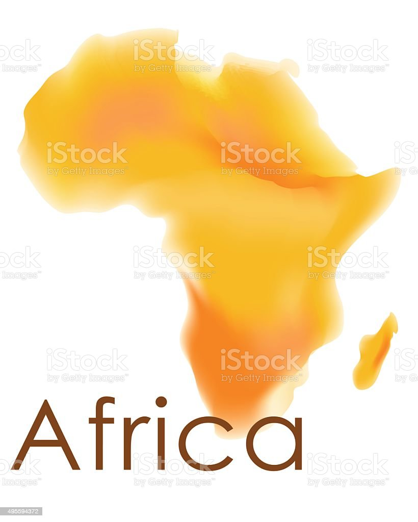 Africa Abstract Map vector art illustration