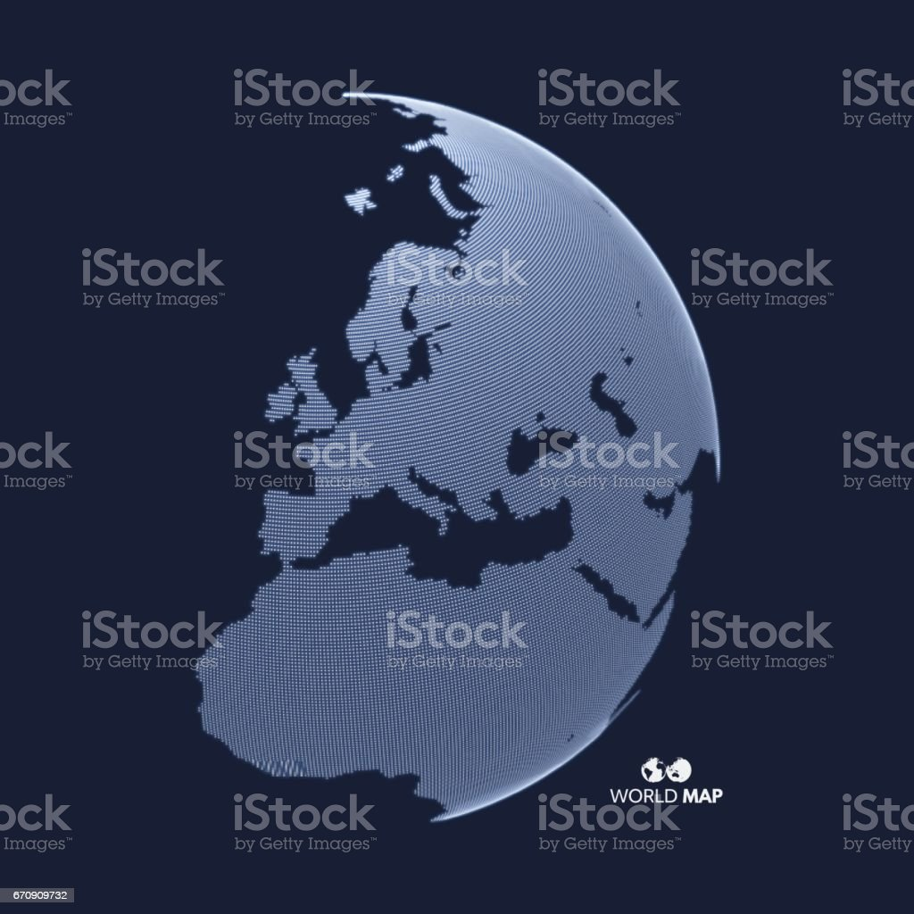 Africa and Europe. Earth globe. Global business marketing concept. vector art illustration