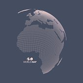 Africa and Europe. Earth globe. Global business marketing concept.