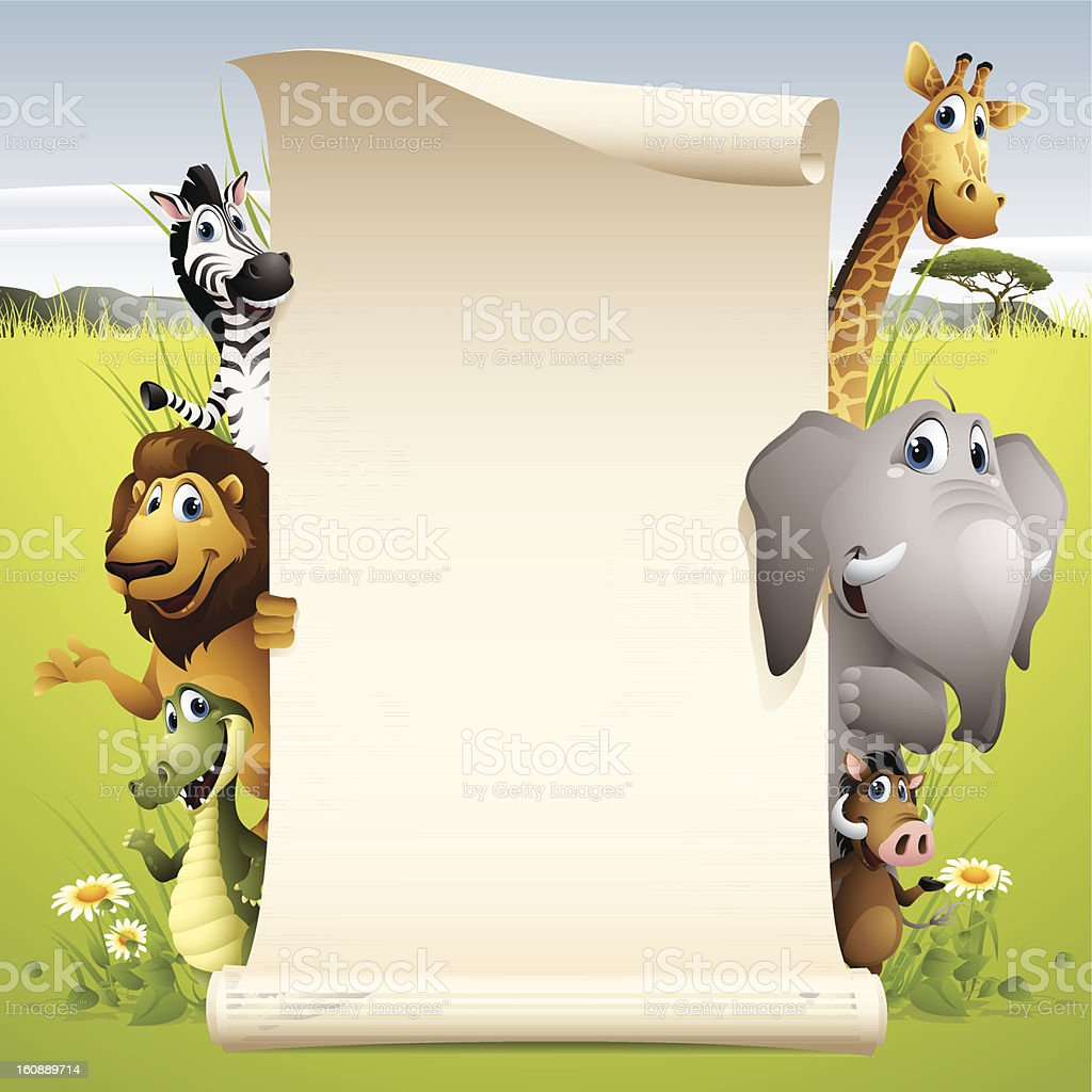 Africa Animals - scroll royalty-free africa animals scroll stock vector art & more images of africa