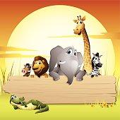 Africa Animals - sign