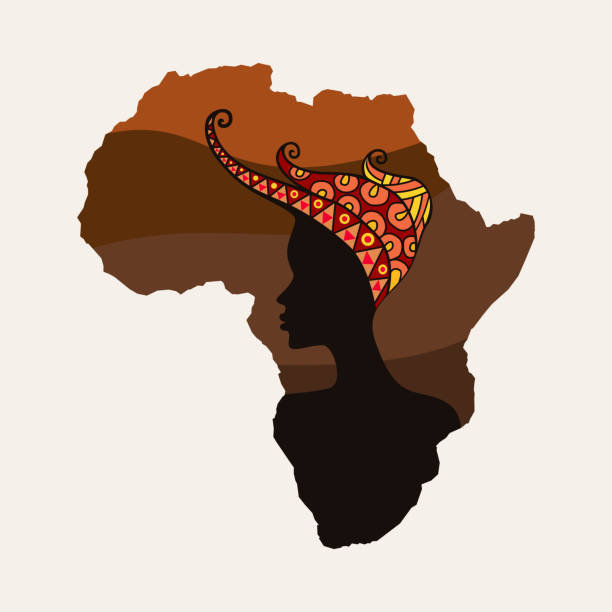 African Woman Clipart, Woman With Headwrap Clipart PNG By I 365 Art |  TheHungryJPEG.com