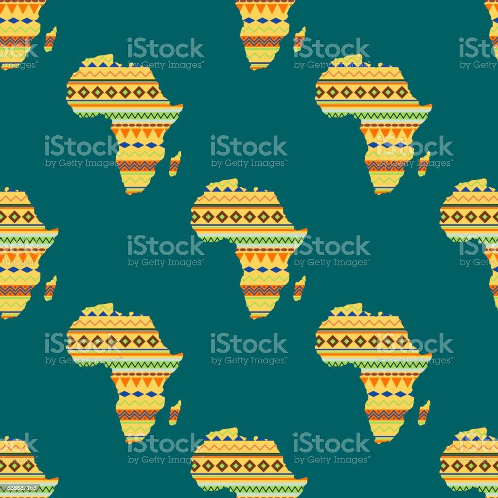 Africa continent seamless pattern vector illustration. vector art illustration