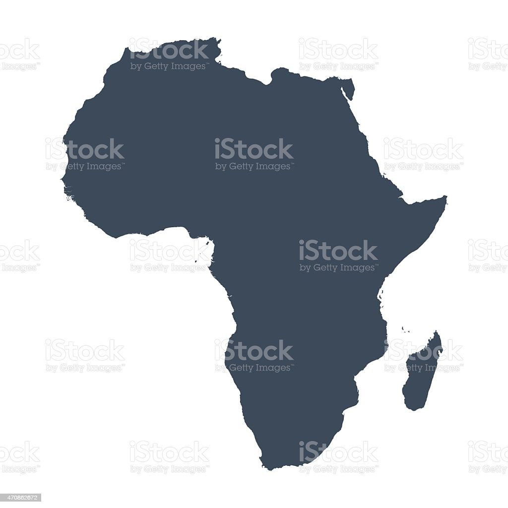 Africa country map vector art illustration