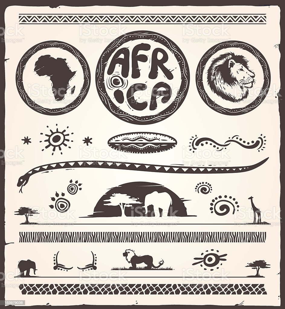 Africa Design Elements vector art illustration