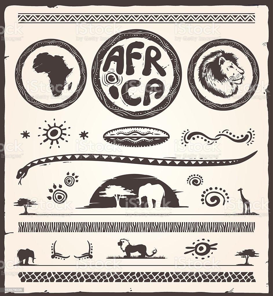 Elementi di Design di Africa - illustrazione arte vettoriale