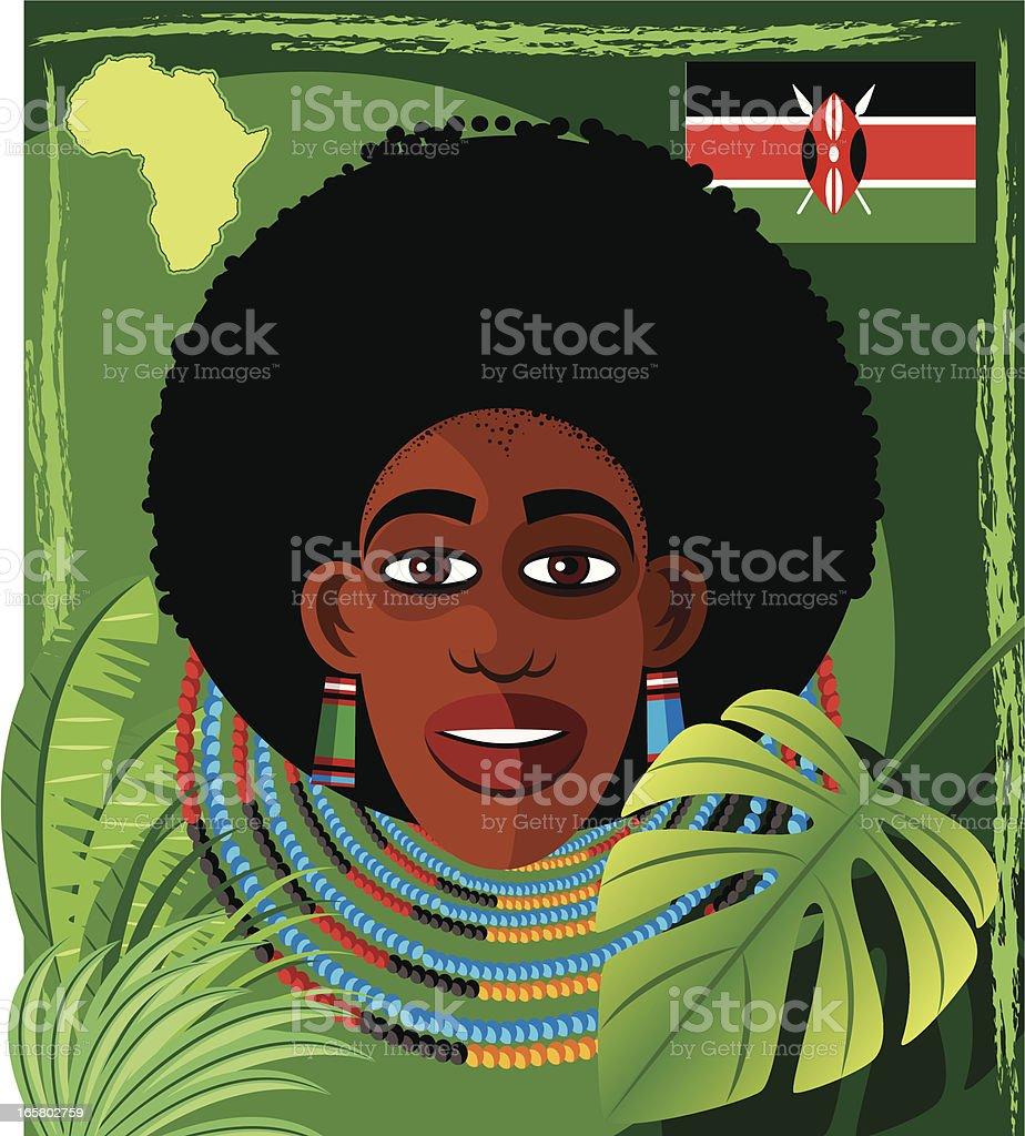 Africa Face vector art illustration