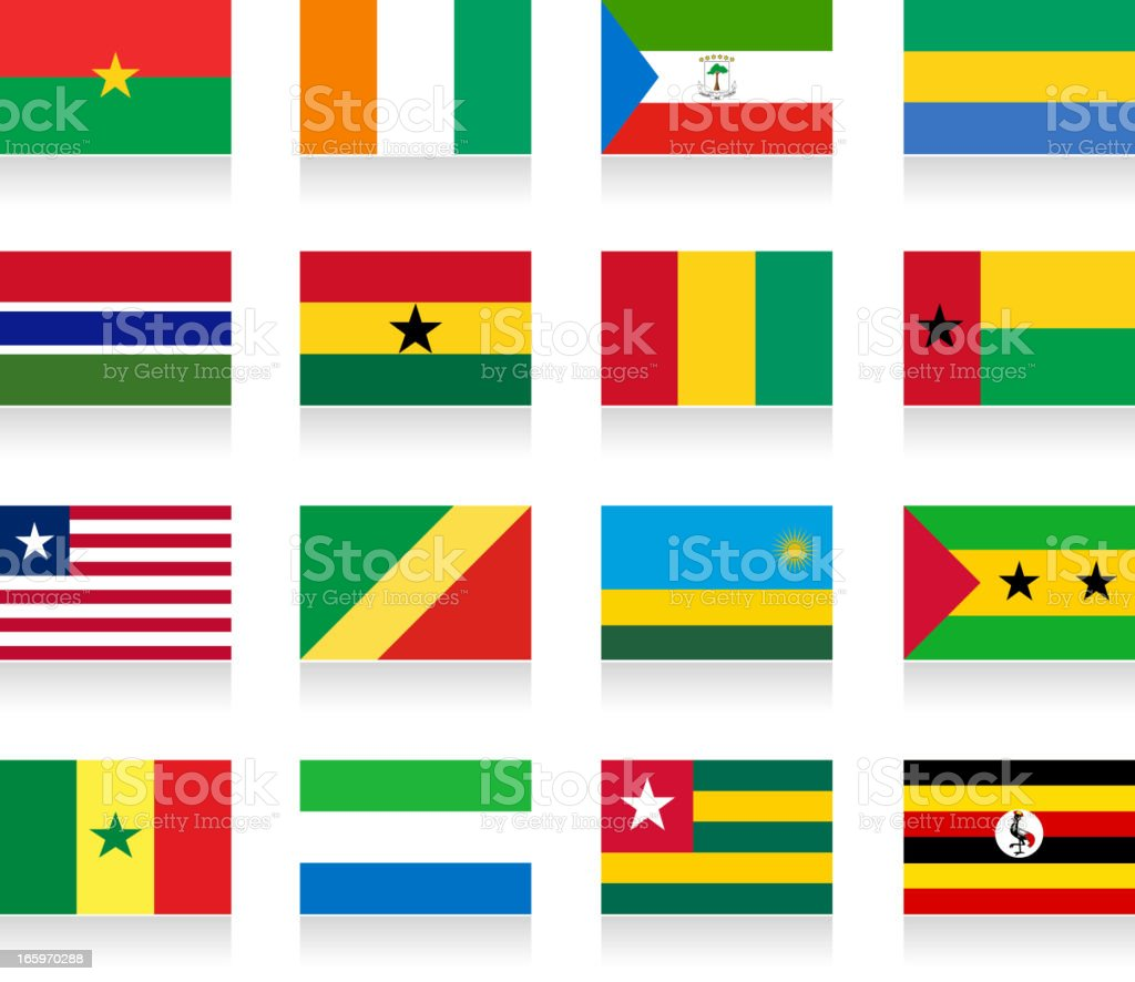 Africa flag set- part 2 royalty-free stock vector art