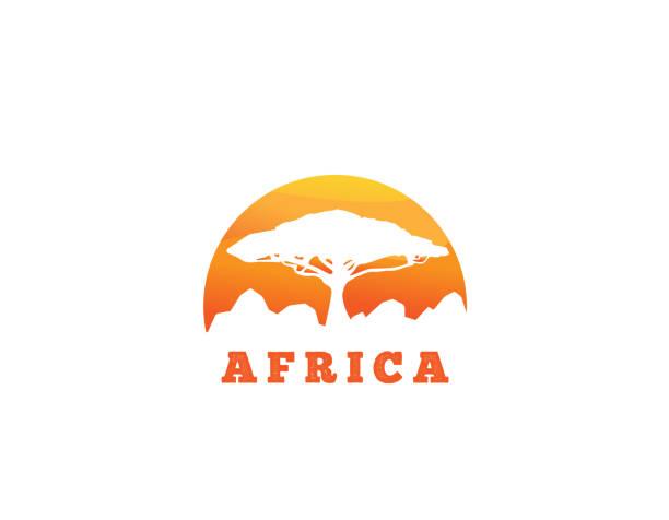 bildbanksillustrationer, clip art samt tecknat material och ikoner med afrika landskap ikonen - illustration - south africa