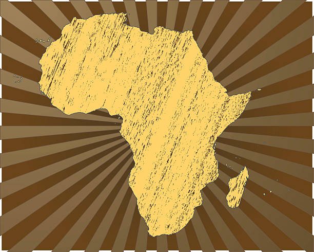 africa map grunge - treasure map backgrounds stock illustrations
