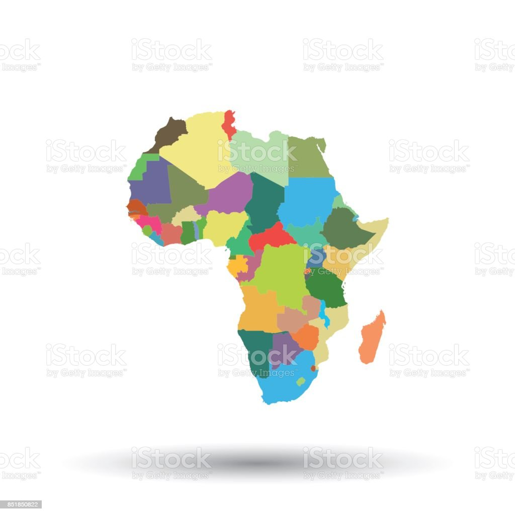 Map Of Africa 1850.Africa Map Icon Flat Vector Illustration Africa Sign Symbol With