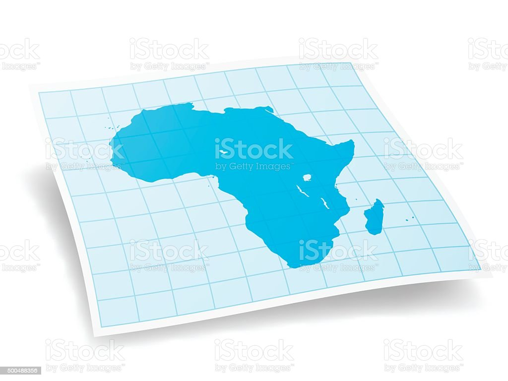Africa Map isolated on white Background vector art illustration