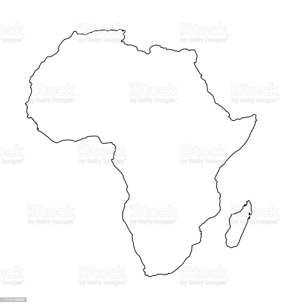 Cartina Dell Africa In Bianco E Nero.Mappa Dellafrica Isolata Su Sfondo Bianco Illustrazione Vettoriale Della Mappa Del Mondo Immagini Vettoriali Stock E Altre Immagini Di Affari Istock