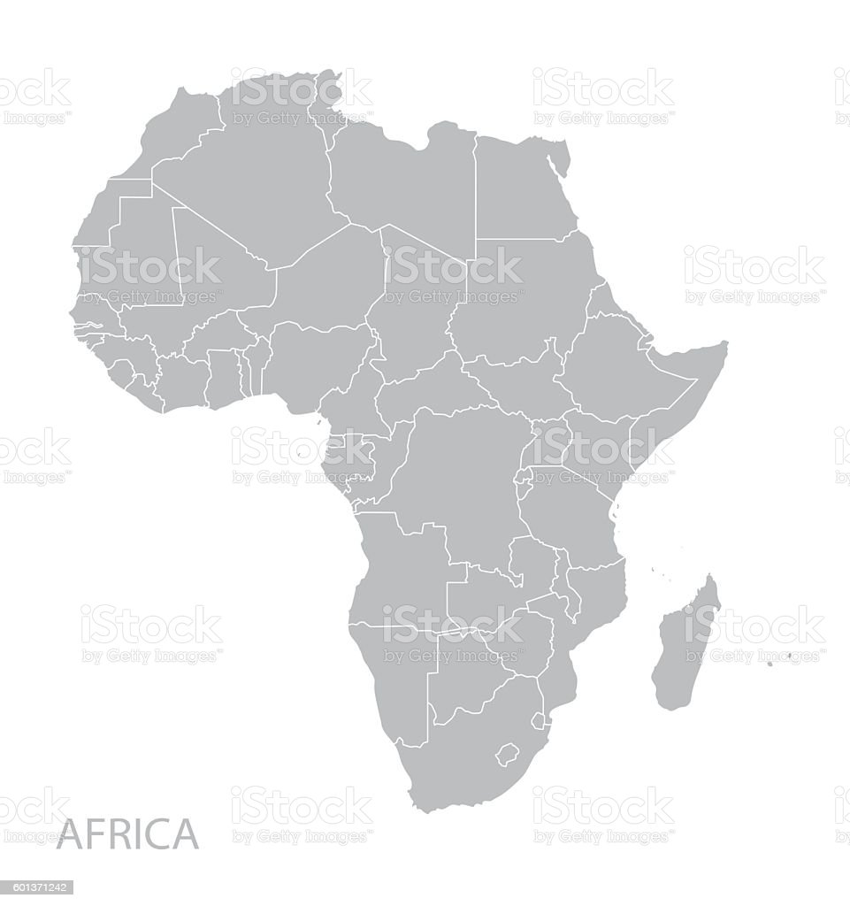 Africa map vector art illustration