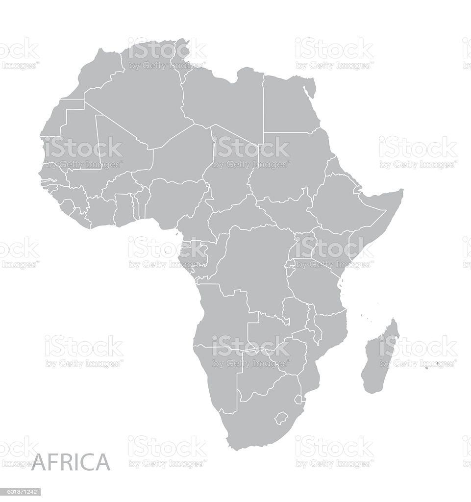 Mapa da África  - ilustração de arte em vetor