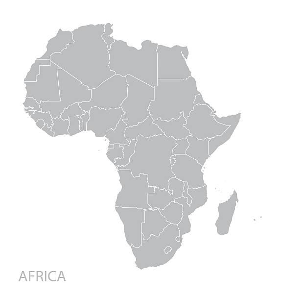 illustrazioni stock, clip art, cartoni animati e icone di tendenza di mappa di africa  - medio oriente